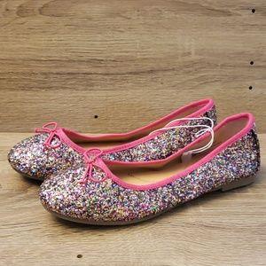 NWOT Cat + Jack Girls Pink Sparkle Flats
